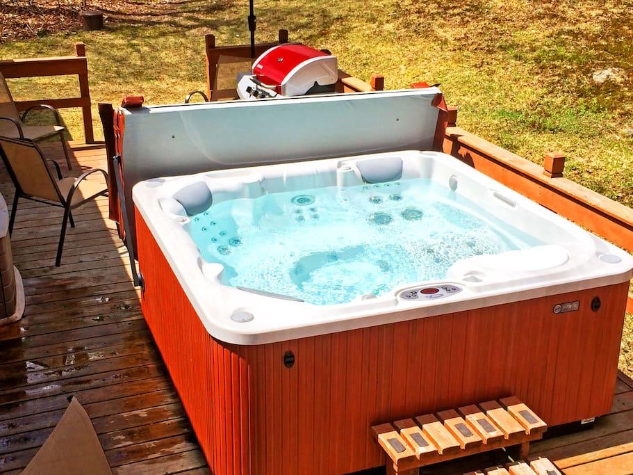 Brand new hot tub.