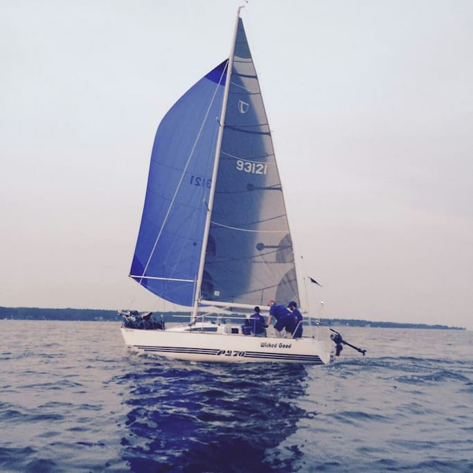 Mark's Tartan Pride 27. We race every Wednesday night Spring thru fall. Great way to learn. Weekday/weekend  casual sailing. Weekend racing options too.