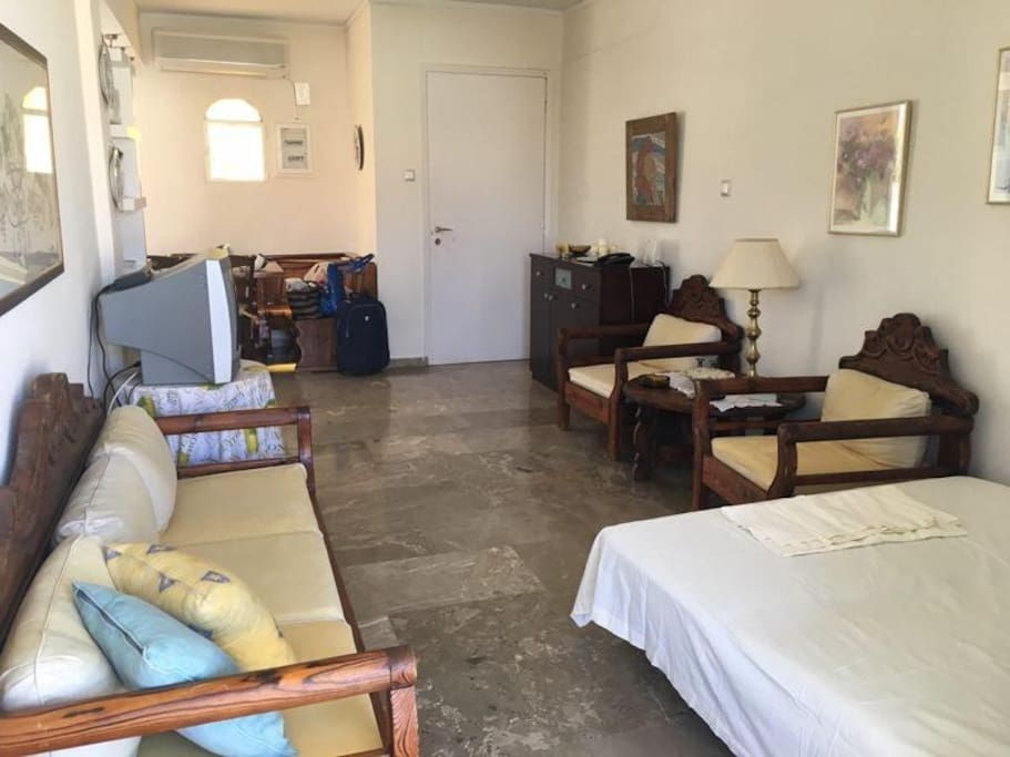Spacious Livingroom with sofa bed for 2 persons