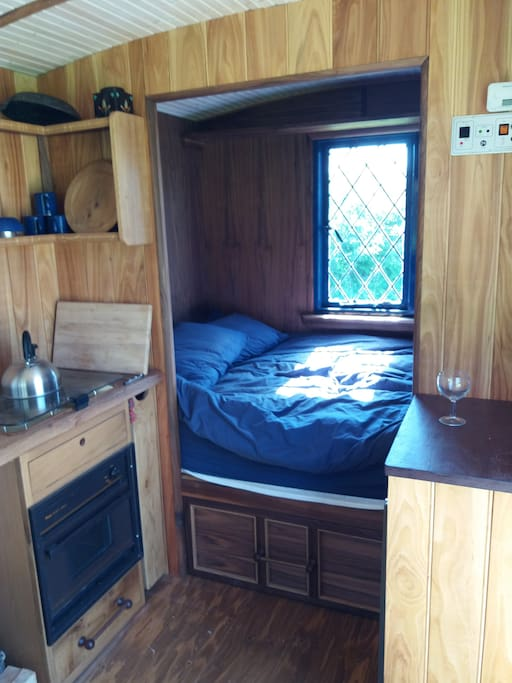 Double bedroom with lots of                    storage.