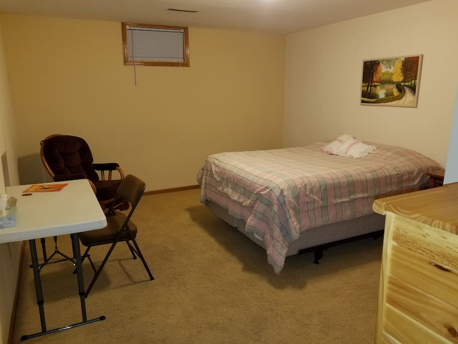 Bedroom #2, 200 sq ft, can also accommodate an additional twin bed.