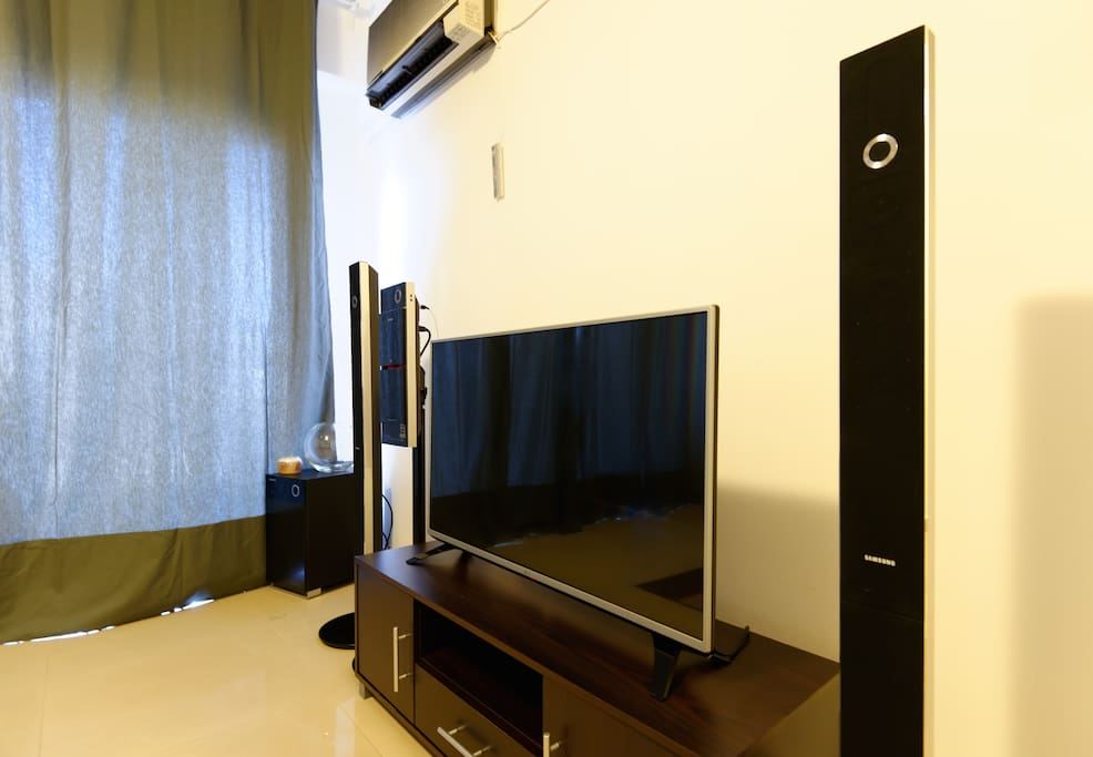 """LG 43"""" LED TV, Samsung Stereo and DVD player."""