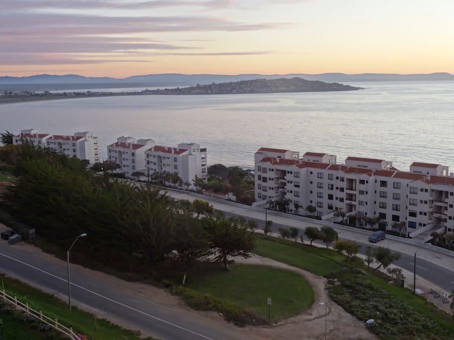 Excelente vista a la península de Tongoy y al mar