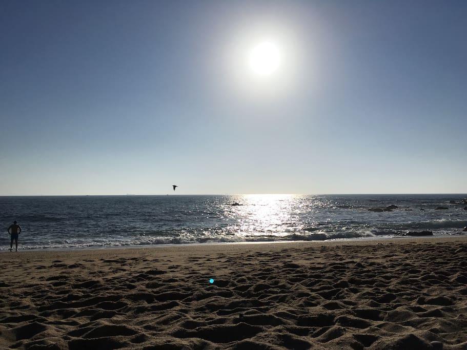 A praia/The beach