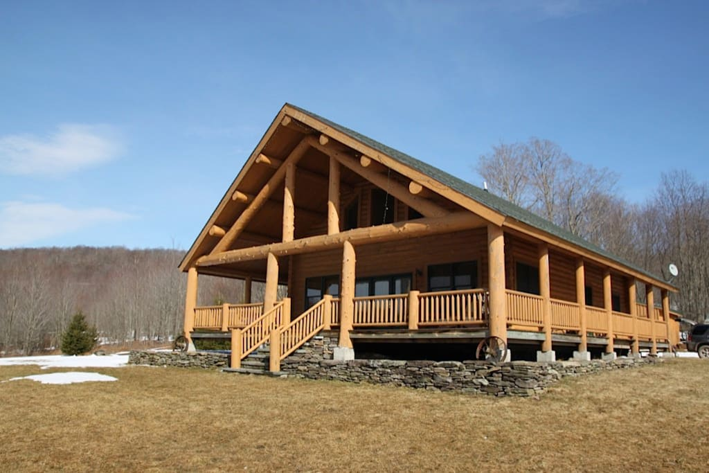 The property sits on 60 acres that are great for exploring and hiking through.