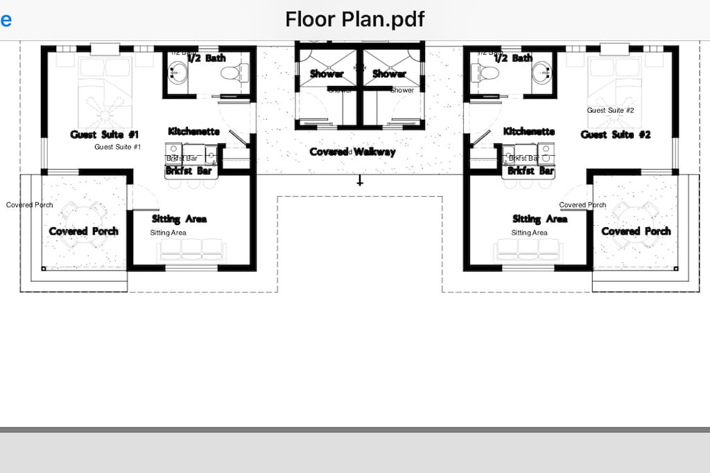 Behold, a unique and ergonomic floor plan!