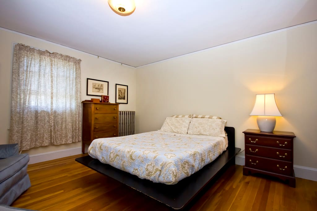Wide angle view of room