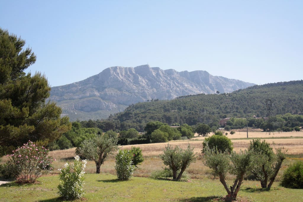 View from the living room on the Montagne Sainte Victoire.