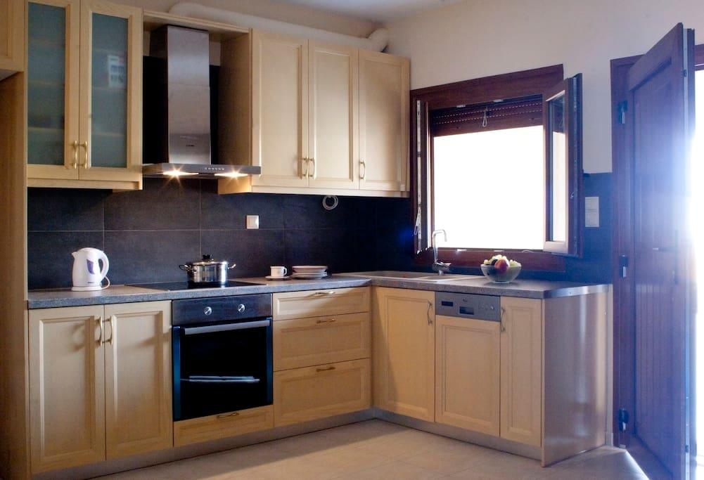 The kitchen on the ground floor