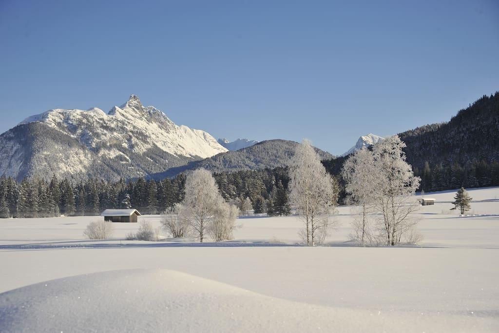 Leutasch  in the winter