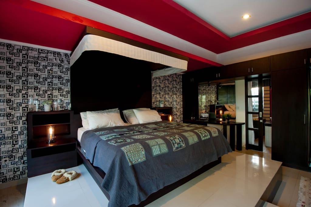 The Chef interiors, master suite