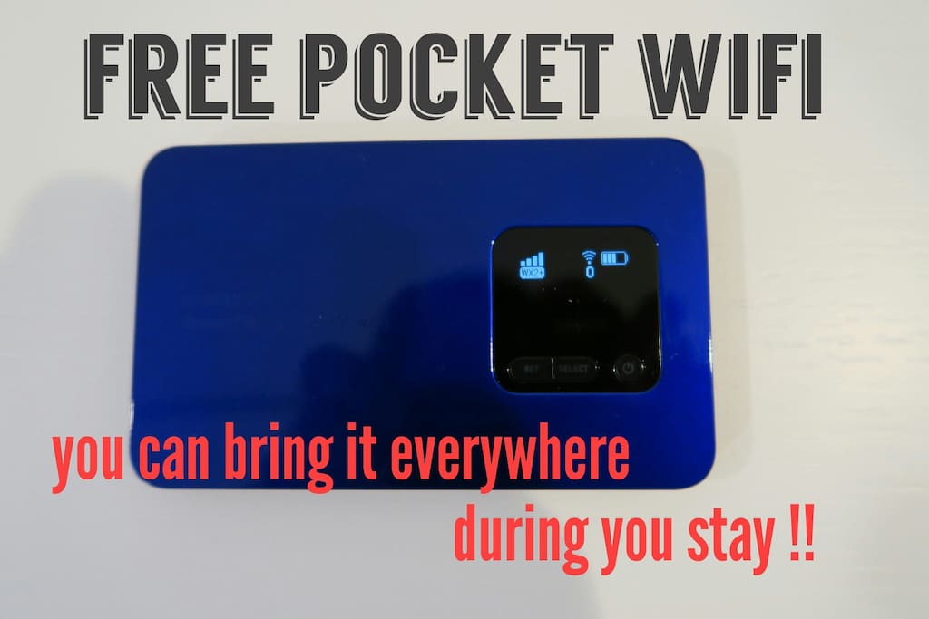 Free Pocket Wifi for you to use everywhere!!!
