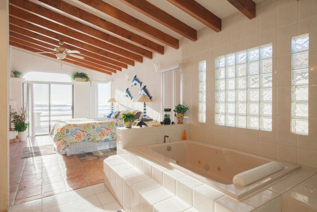 Jacuzzi hot tub in Master Bedroom