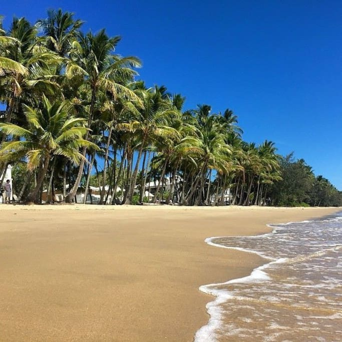 Palm Cove Beach just 25 minutes north of Cairns