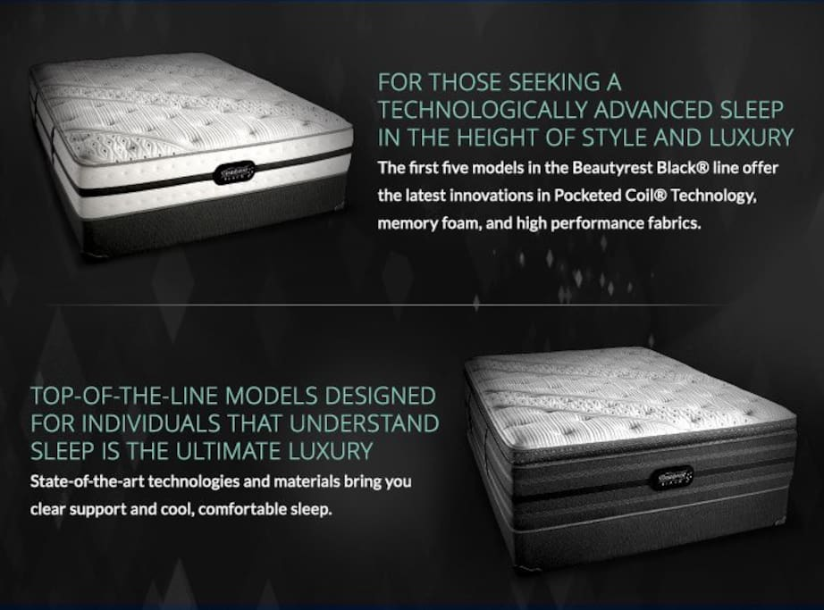 Beautyrest Black, top-of-line mattress, so you're well rested!