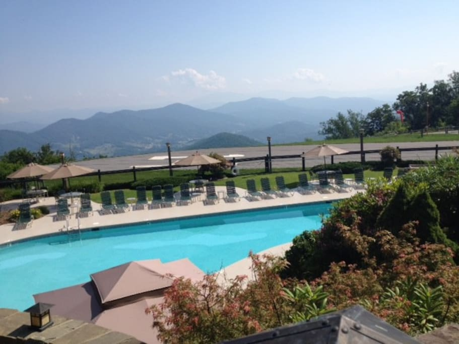 To access the Clubhouse Pool, I would need to get passes...it is located at the top of Mountain Air Country Club