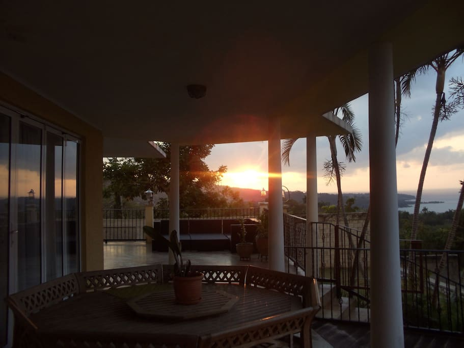 Here's a view of the sunset from the porch.