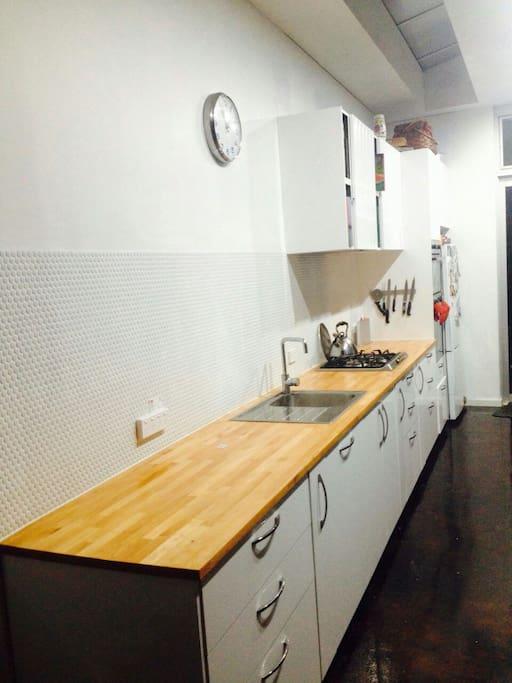 Galley style scandinavian kitchen