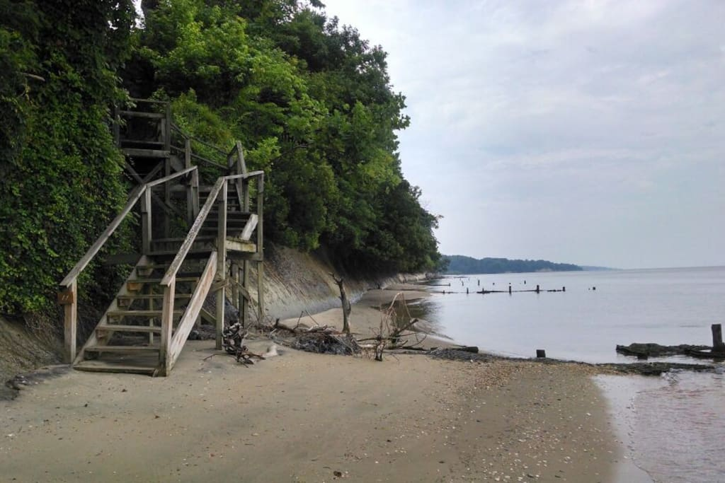Miles of beach stairways to climb and explore naturescapes