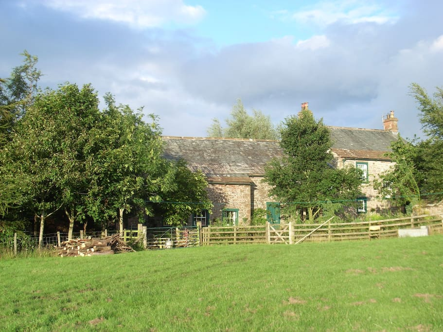 cottage from field at rear