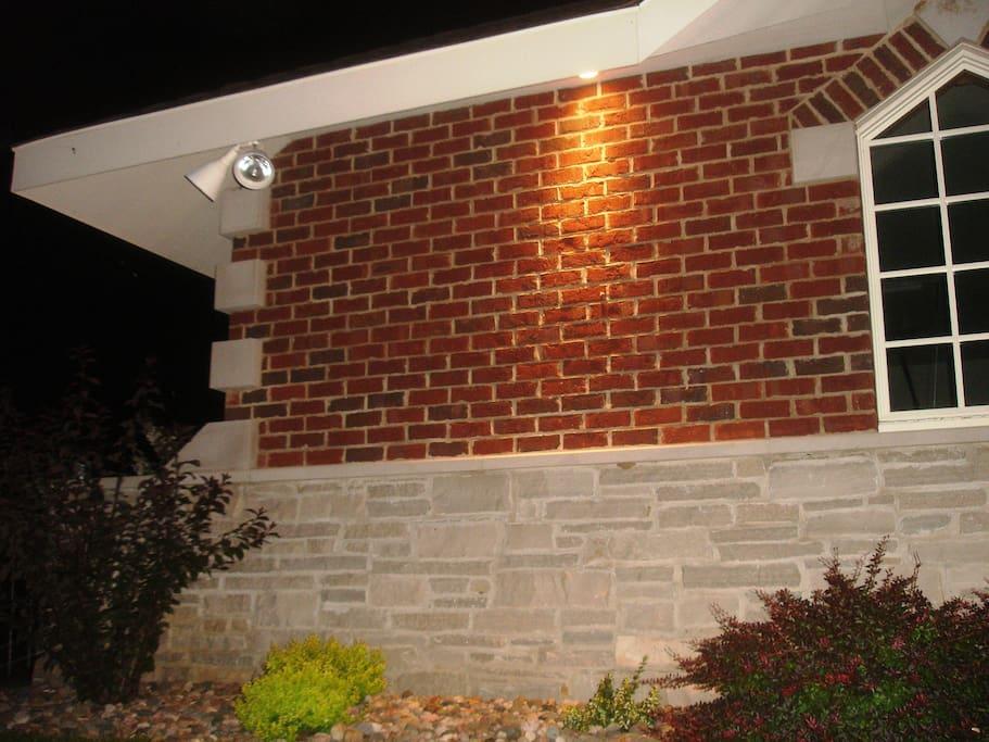 Lights outside the house