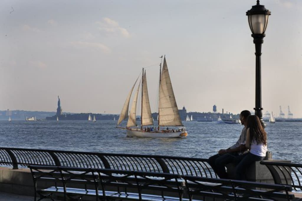 sail boats go by n spring/summer