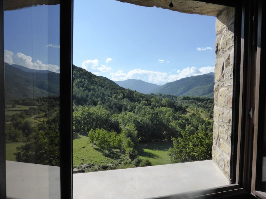 View from one of the top bedrooms.