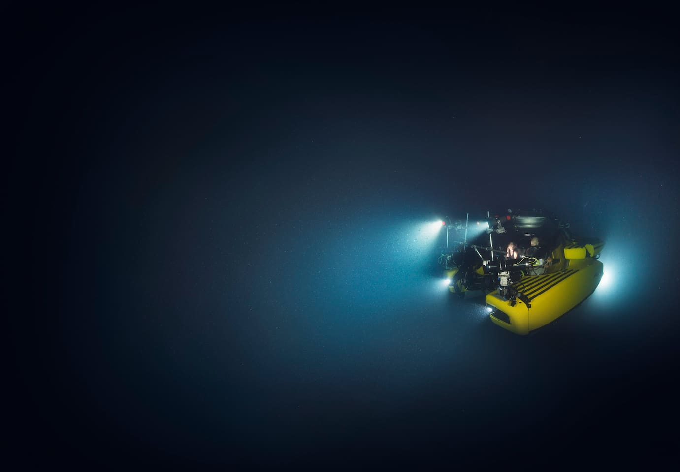 Dive into the unknown on an active research mission aboard the TRITON 3300/3, one of two well-equipped marine science submersibles. Photo © 2017 Luis Lamar
