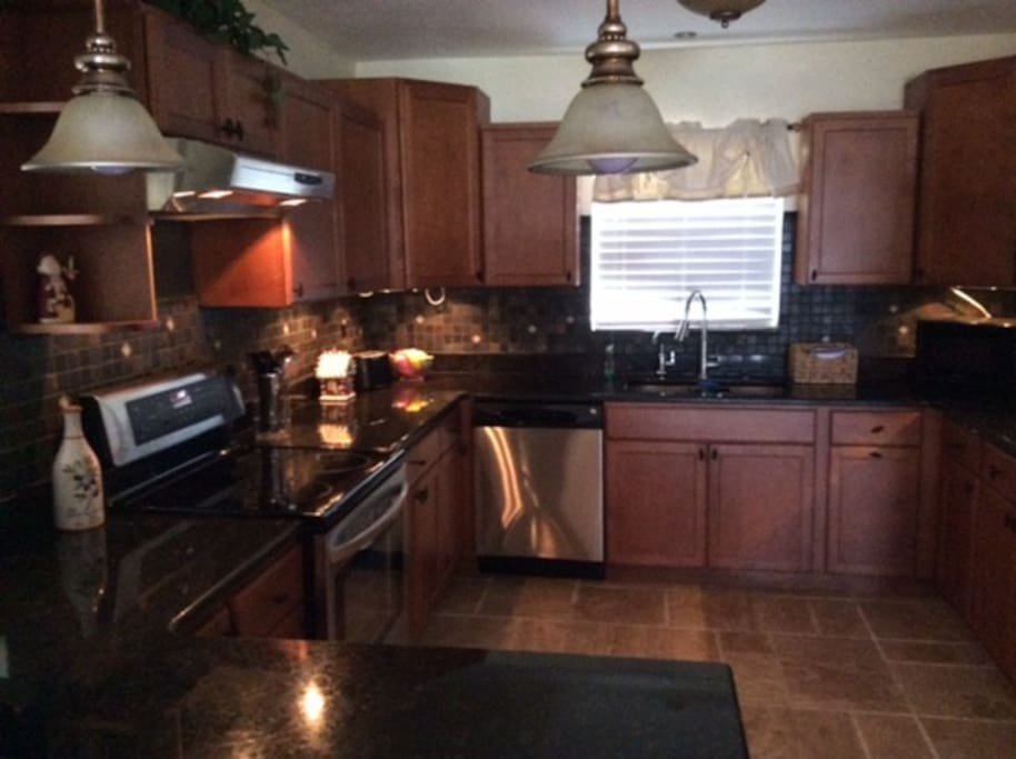 Large kitchen with all new appliances.