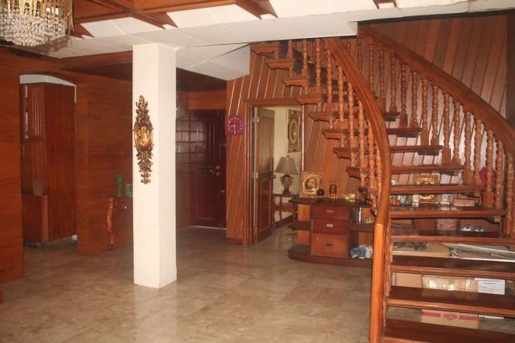 stairs to the 2nd floor for the private room