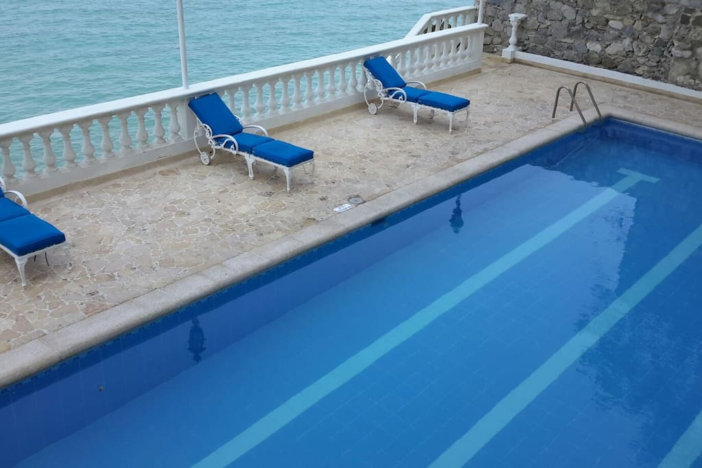 Relax and enjoy the ocean view from swimming pool