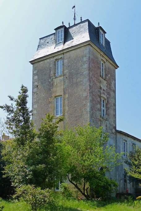 La Tour des Cadets vue du jardin