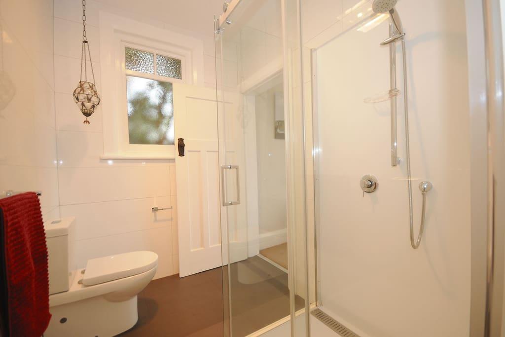 The en-suite with walk-in shower