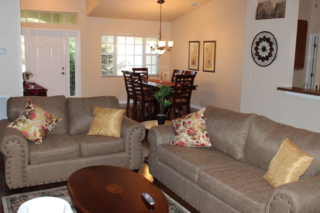 Comfy Living room and Large Dining room