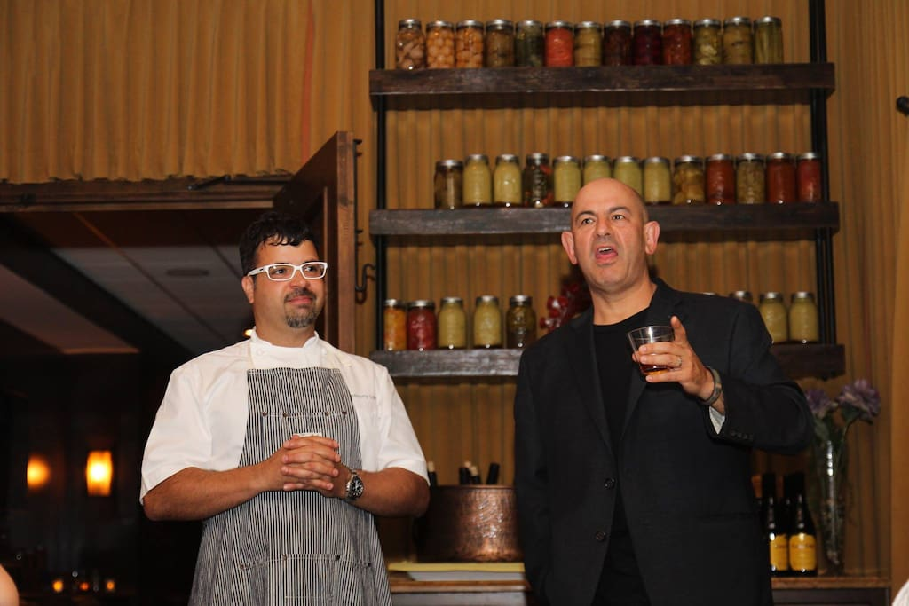 Celebrity chef Anthony Lamas (on left)
