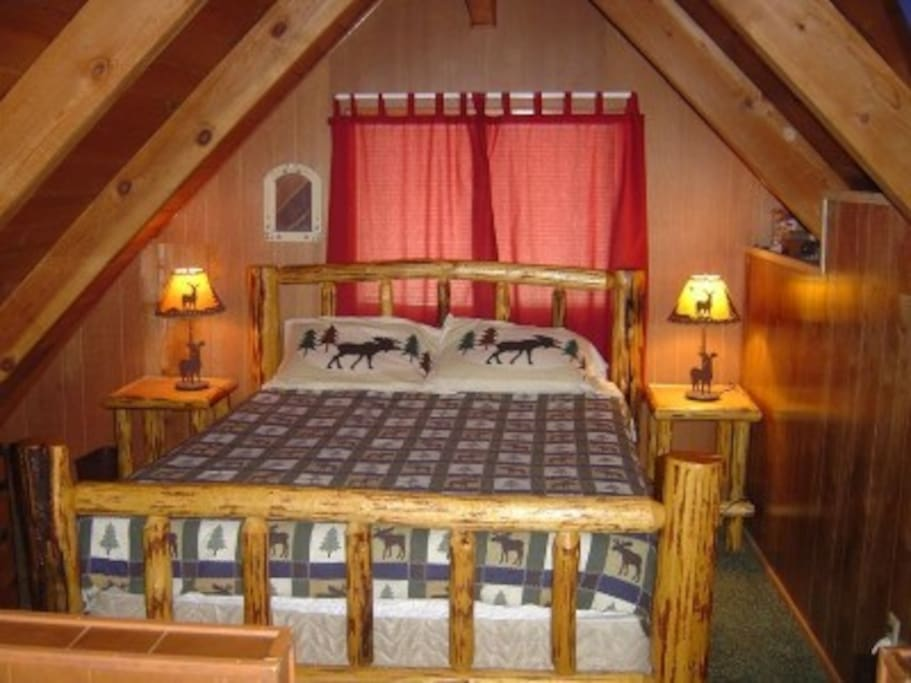 Lovely loft-style bedroom.