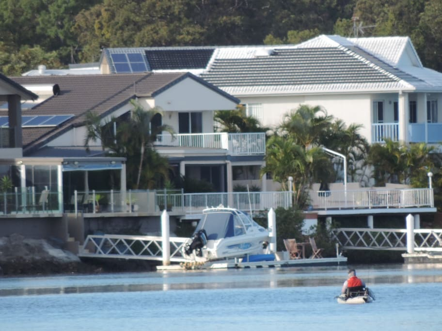 Rear of property, fish off the pontoon