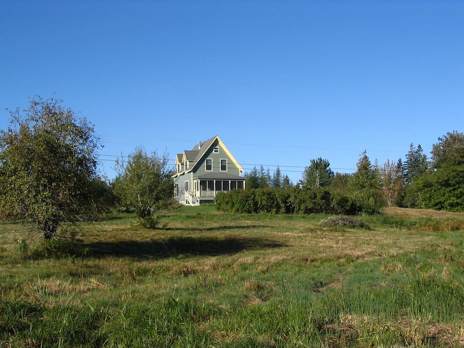 The house seen from our front field.
