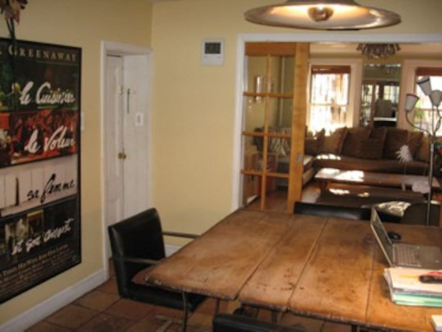 Livingroom and dining table