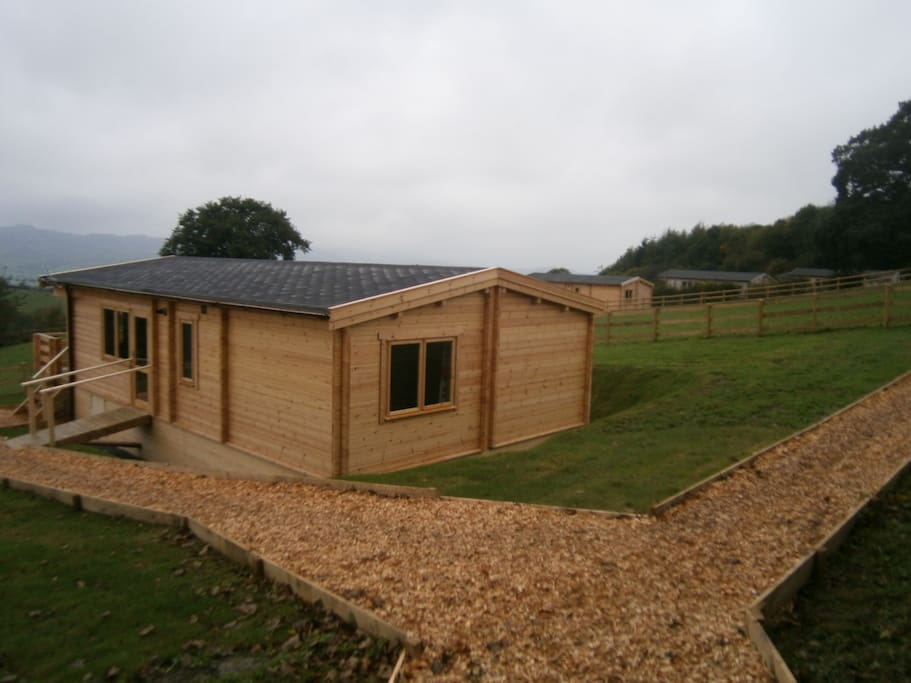 One of the spacious lodges