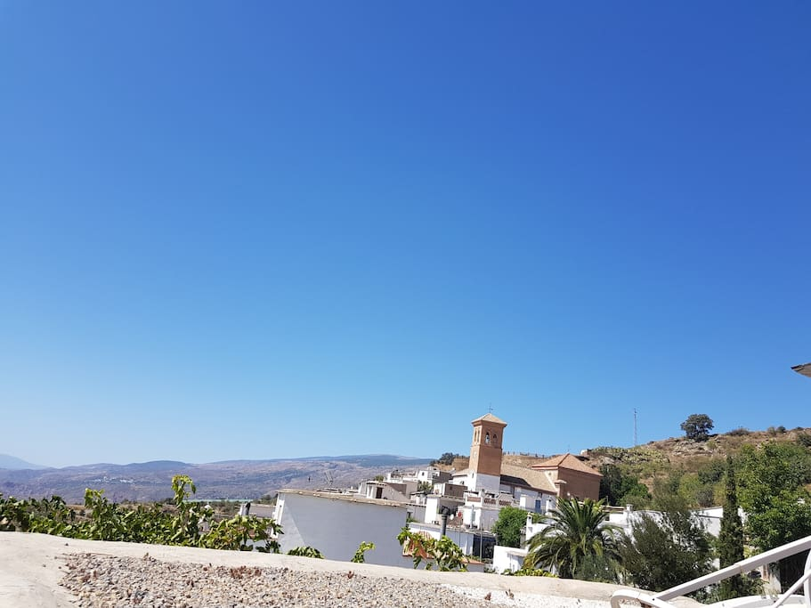 Views across from the south facing terrace towards the alpujarras