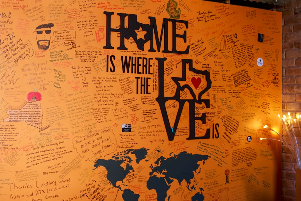 Our favorite reviews are the ones written on our walls - the 1,000 plus on Airbnb are great also!