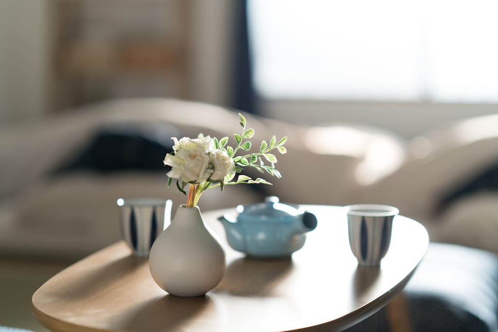 Relax on traditional Tatami floor and enjoy Japanese tea time at home!