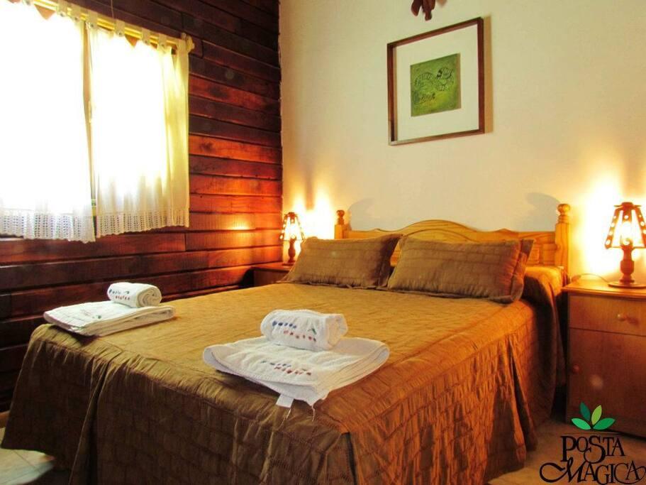 dormitorio (cabaña 1 dormitorio)