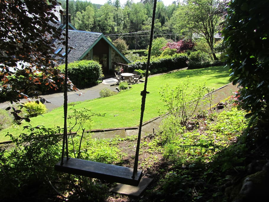 View to Hayloft from  back of private garden