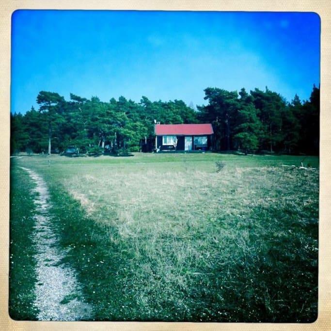 Huset från vägen (innan utbyggnaden)