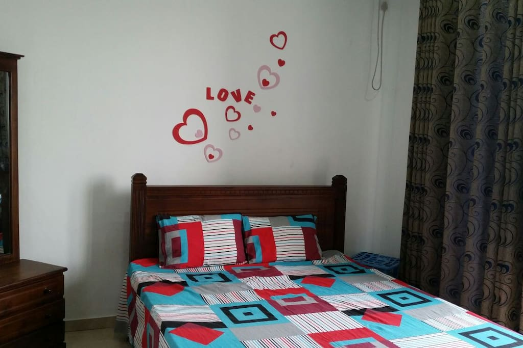 With wall decor