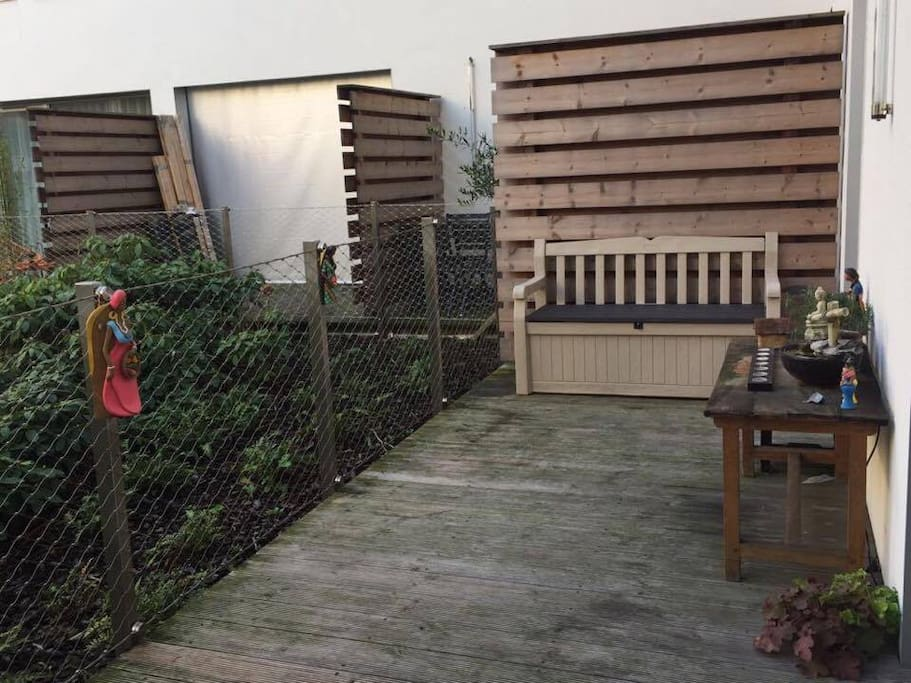 Terrasse vue sur jardin privé