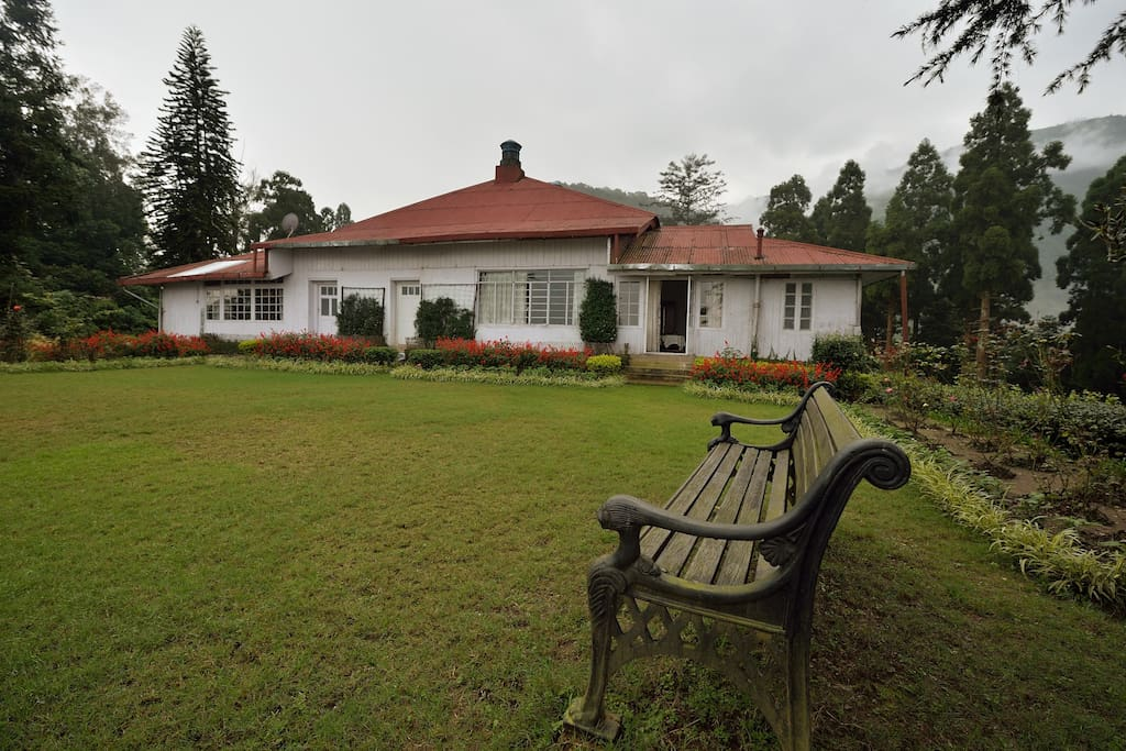 Enjoy a peaceful time sitting the lawn behind the bungalow.