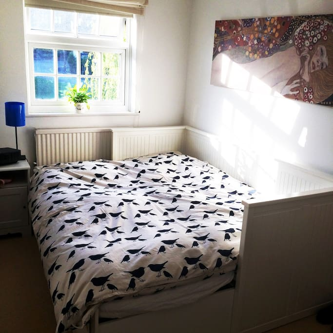 Bedroom with Queen-sized bed and cupboard